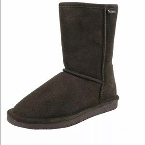 Bearpaw Women Boots Shoes Suede Dark Brown 9